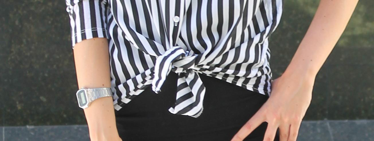Falda tubo + Camisa masculina - Reflejada en tu armario cbacc400809f
